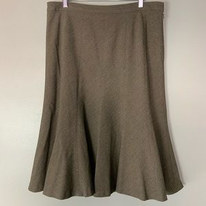 Anne Klein flared career skirt